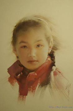 By Liu Yi (柳毅), from Shangai (b. 1958) - watercolor - http://liuyiying.boyie.com/html/intro.html