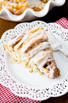 Giant Cinnamon Roll Cake - soft, fluffy, and extra large! Get the recipe at sallysbakingaddiction.com