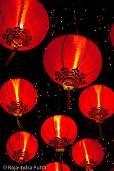 Red Chinese Lanterns - by Ripi