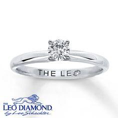Leo Diamond Artisan Ring 1/3 Carat Diamond 14K White Gold