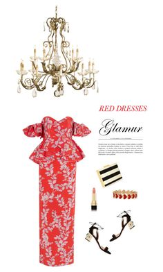 """""""Paint the town"""" by cheetakat12 on Polyvore featuring Johanna Ortiz, Aquazzura, Alison Lou, Dolce&Gabbana, Currey & Company, Valentino, women's clothing, women, female and woman"""