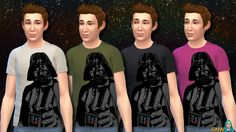 Whether you're a Star Wars fan or not, you've probably noticed Star Wars is crazy hyped right now. That's because of the newly released movie; The Force Awakens. I'm a Star Wars fan myself, and I couldn't resist making some new Star Wars t-shirts for my Sims! This is the Darth Vader version. Here's the female version. And there's a kids version too!
