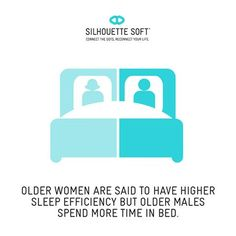 Did you know that older women are said to have higher sleep efficiency but older males spend more time in bed? #silhouettesoft #SkinRenewal #facialthreads #antiageing http://www.hbhealthofknightsbridge.co.uk/thread-lift/