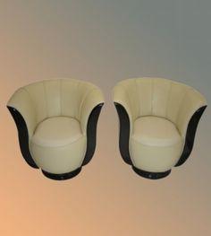 Twin Art Deco chairs