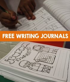 Use these free writing journals with your kindergarten students. Comes with front cover, back cover to explain writing process, and scaffolded, lined paper. Kindergarten Writing Journals, Preschool Journals, Kindergarten Language Arts, 1st Grade Writing, Work On Writing, Preschool Writing, Writing Lessons, Writing Workshop, Teaching Kindergarten