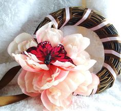 Easter Butterfly Decorative Mini Wreath for by LalaDangerous, $16.95