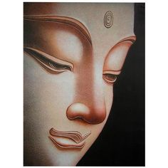Soft, curving lines and contemplative appeal lend a graceful beauty to Oriental Furniture Buddha Canvas Wall Art. This gallery-wrapped canvas features an up-close side portrait of the face of Gautama Buddha, lending peace and enlightenment to your space. Buddha Tattoo Design, Buddha Tattoos, Buddha Kunst, Buddha Canvas, Buddha Face, Buddha Buddha, Buddha Quote, Buddha Painting, Buddha Drawing