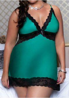 2c36eab31b870 Lace Splicing Backless Sleepwear without Necklace Big Size Fashion