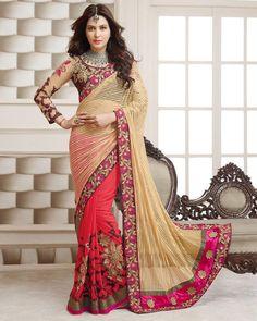 Buy Gold Gitanjali Net Jacquard Pallu at happydeal18.com, India's biggest shopping store