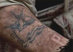 a Sparrow tattoo, for Captain Jack Sparrow