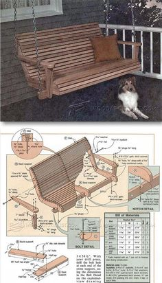 Porch Swing Plans - Outdoor Furniture Plans & Projects | WoodArchivist.com