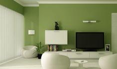 Wohnzimmer Wandfarben 2015 - Olive mit weißer Einrichtung