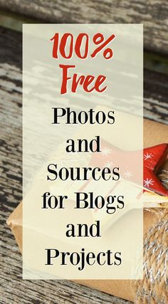These sites have completely free photos for blogs - no catch! Use them royalty free for any project. via @momtoelise