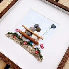 Wedding picture gift Anniversary present Love pebble picture Valentines Day present Forever gift Couple gift Framed birthday present Anniversary Gifts For Parents, Anniversary Present, Stone Crafts, Rock Crafts, Valentines Day Presents, Birthday Presents, Family Gifts, Couple Gifts, Pebble Art Family