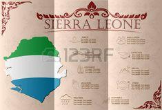 Sierra Leona, infografías, datos estadísticos, de las vistas. Ilustración vectorial