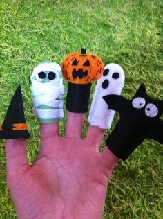 Kit 5 dedoches halloween