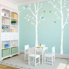 Dekorácie - Veľké brezy - originálna nálepka na stenu - 4835532_