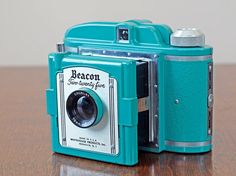 Rare Turquoise Beacon 225 Camera // Vintage Blue by BiffAndBettys, $72.00