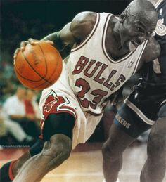 michael jordan and the tongue out. Meant something was about to happen