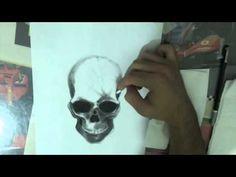 3D ART #1 - skull 3D drawing