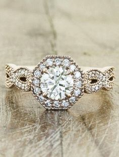 Island luxe wedding style   Hexagon shaped engagement ring   fond yours or Veiw more on www.closetwhite.com