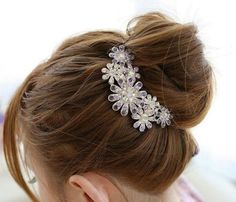 nice Beautiful Jewelry Flowers Crystal Hair Clips - for hair clip Beauty Tools