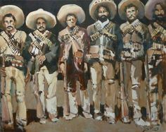 Pancho Villa with Troops 24x30