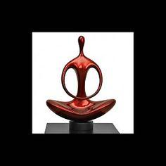 Lack Skulptur Silence in Rot