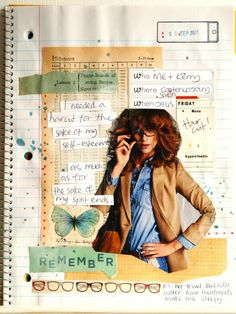 This blog shows several pages of a spiral bound notebook/smash book.