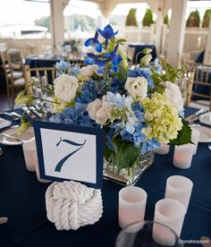 Blue and green hydrangea Wedding aisle flower décor, wedding ceremony flowers, pew flowers, wedding flowers, add pic source on comment and we will update it. www.myfloweraffair.com can create this beautiful wedding flower look.