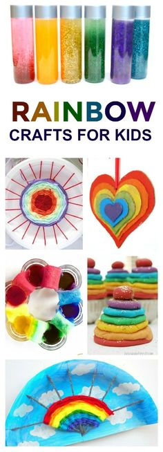 "50+ WAYS FOR KIDS TO ""MAKE A RAINBOW"" - I can't wait to try some of these! #rainbowcrafts #rainbowactivities #kidsactivities #kidscrafts"