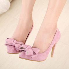 Delectable New Style Bowknot Stiletto Heels Shoes Pointed Toe Heels, Stiletto Shoes, Super High Heels, Low Heels, Marilyn Monroe Shoes, Wedding Shoes Heels, Designer Pumps, Pink Shoes, Womens High Heels