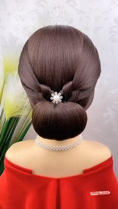 Easy Hairstyles For Thick Hair, Hair Tutorials For Medium Hair, Hairdo For Long Hair, Different Hairstyles, Up Hairstyles, Hair Up Styles, Medium Hair Styles, Hair Style Vedio, Hair Designs