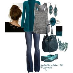 Teal    created by mariah-karm on Polyvore