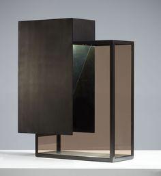 Yuma table lamp burnished - smoky glass