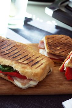Mozzarella and Prosciutto Panini  http://www.turnonyourcreativity.com/recipes/mozzarella-prosciutto-panini