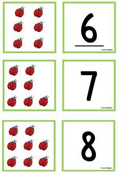 Uppdatering av snöflingememory och nyckelpigememory | Emma Matte, Preschool, Calendar, Memories, Ladybugs, Counting, Cards, Blog, Animals
