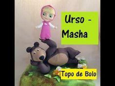 Aula Urso da Masha -  Massas para Biscuit Raquel Fontinele - YouTube Clay Wall Art, Masha And The Bear, Cheesecake Cupcakes, Pasta Flexible, Cake Tutorial, Animation Film, Winnie The Pooh, Cake Toppers, Fondant