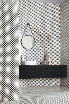 revetement de sol et murs avec faience salle de bain leroy merlin noir et blanc