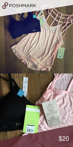 NWT Ellie FEBRUARY BOX BUNDLE This is a bundle for two items from Ellie's February Collection:  Sports Bra, size small Pink Workout Top, size small   Both are SUPER cute. New with tags for both! ellie activewear Tops Tank Tops