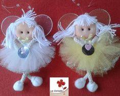 Angelitas en tul// Maria L.Bertolino/ www.pinterest.com... #artesaniasfaciles
