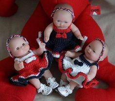 263 Blue - White- Red Dress