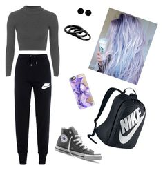 """""""Untitled #21"""" by ainsleeo on Polyvore featuring Topshop, NIKE, Converse, AeraVida, Furla and Casetify"""