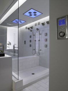Kohler DTV shower...my dream shower. I do not think I would make it to work in the morning if I had one of these!