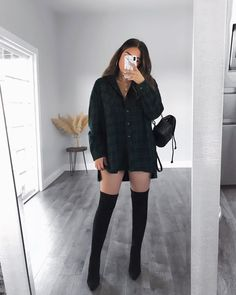 Flannel Outfits, Basic Outfits, Winter Fashion Outfits, Mode Outfits, Girly Outfits, Classy Outfits, Look Fashion, Stylish Outfits, Girl Fashion