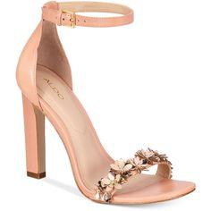 1dcc47df535 Aldo Mila Two-Piece Block-Heel Sandals (64 JOD) ❤ liked on