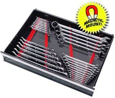 ERNST 6014M RED 40 Tool Wrench Organizer Rail Kit w/ Magnet Mount | eBay Motors, Automotive Tools & Supplies, Auto Tool Boxes & Storage | eBay!