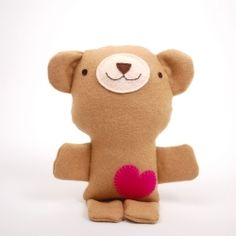 Sew this cute easy-to-make teddy bear with a free pattern and step-by-step photos!