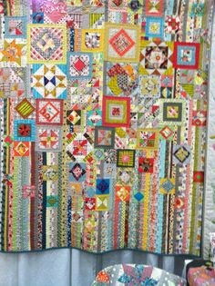 controlled scrappy wonderland!  Great way to use up those orphan blocks!