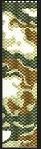 camo bead loom pattern